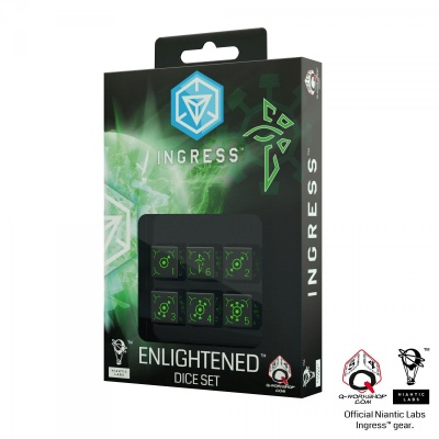Ingress 6D6 Dice Set: Enlightened (6)