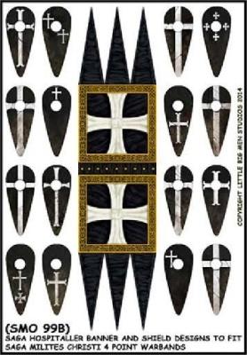 Hospitaller (Milites Christi) Banner & Shield Sheet