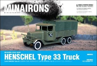 28mm Henschel Type 33 truck - Boxed kit