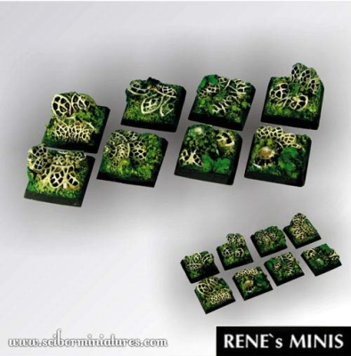 Elven Temple Ruins Square Bases 20mm (5) (OOP)