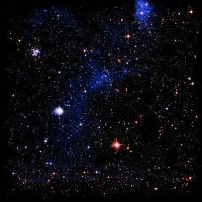 Spacematte Sternenfeld (92x92cm)