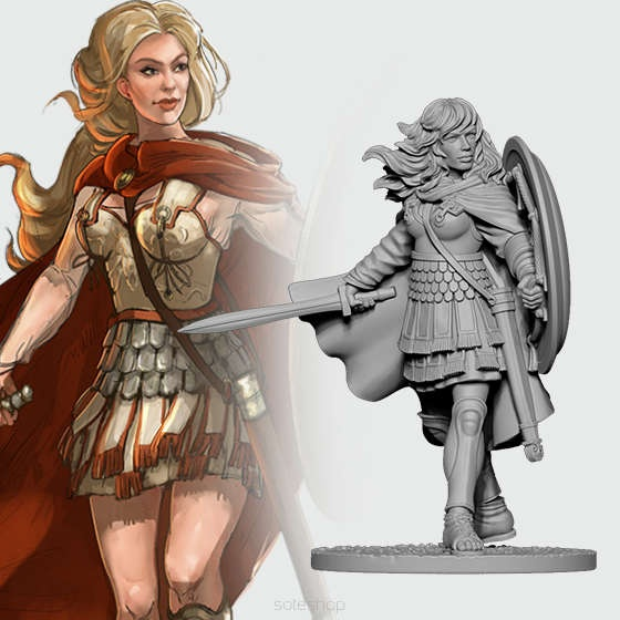 Alexandra of Macedon (54mm)
