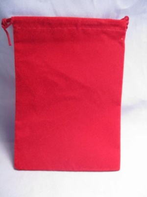 Velour Dice Bags: Small Red (4'' x 6'')