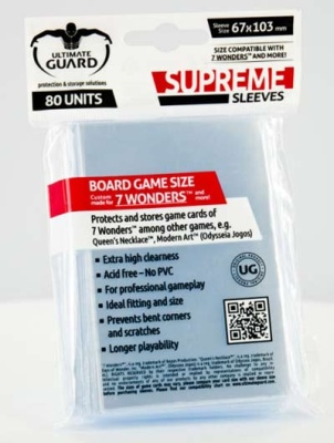 Ultimate Guard: Supreme Board Game Sleeves - 7 Wonders (80)