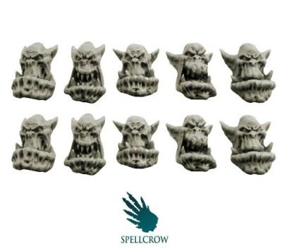 Bulky Orcs Heads (10)