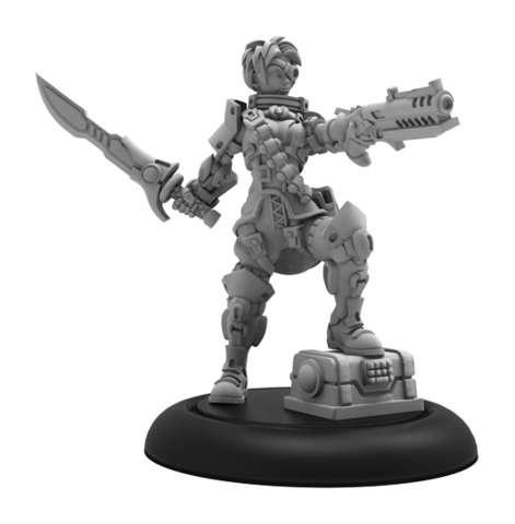 Captain Jax Redblade - Warcaster Wild Card Hero Solo