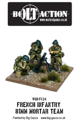 French Infantry 81mm Mortar Team