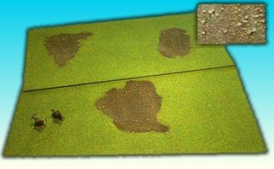 2 Grasflächen ''Erde'' 25 x 50cm