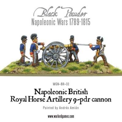 Napoleonic British Royal Horse Art 9pdr