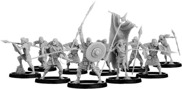 Freemen of Scirbroc, Ceorl Unit (10x warriors w cmd)