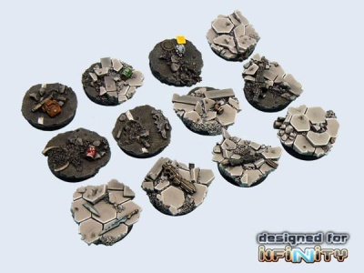 Urban Fight Bases, Round 25mm (5)