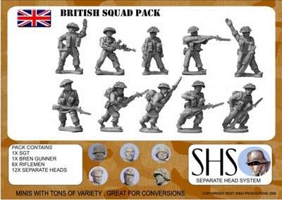 BRITISH INFANTRY SQUAD 1944
