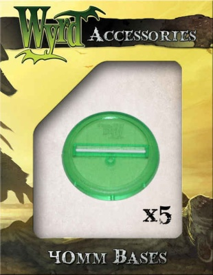Green Translucent Bases 40mm (5)