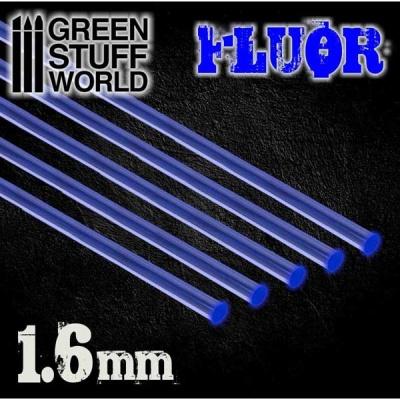Acrylic Rods - Round 1.6 mm Fluor BLUE (5)