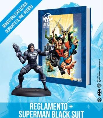 Deluxe DC UNIVERSE Rulebook + SUPER MAN BLACK SUIT