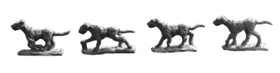 Dogs (Wolfhound Type) (8 of 4 designs)