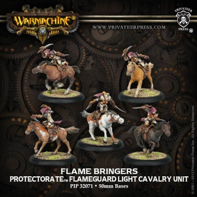 Prot. Flameguard Light Cavalry (5) Unit Box (plastic)