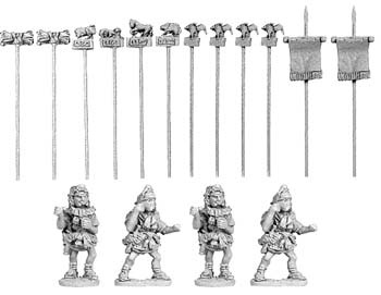 Roman Standard Bearers (4 of 2/12 Standards)