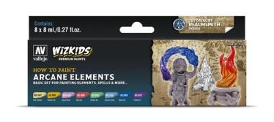 Vallejo Wizkids Premium: Arcane Elements (8ml) (8)