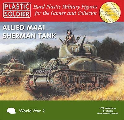 1/72: Sherman M4A1 75mm Tank (3)