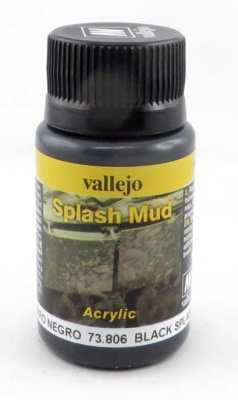 Vallejo Weathering Effects Splash Mud Black 40 ml