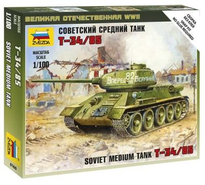 1:100 Soviet Medium Tank T-34/85