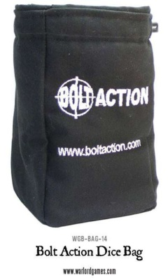 Bolt Action Dice Bag & Dice (Black)
