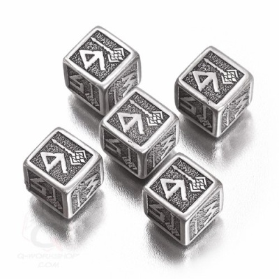 Metal-black Dwarven Dice Set D6 (5)