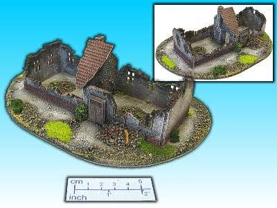Geländestück lange Hausruine (15mm)