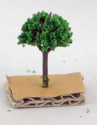 Modellbäume dunkelgrün 3cm, 1/500 (50)