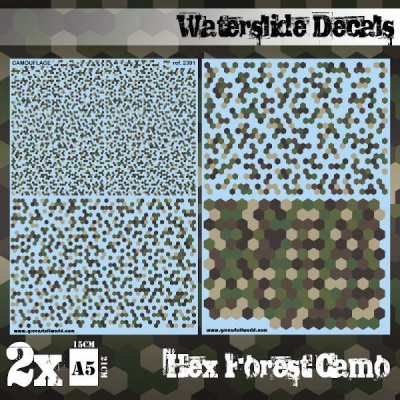 Waterslide Decals - Hex Desert Camo