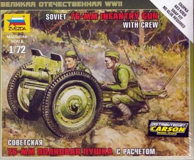 1:72 Soviet 76mm Geschütz
