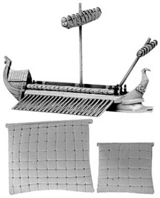 Carthaginian Quinquereme (furled & set main and f