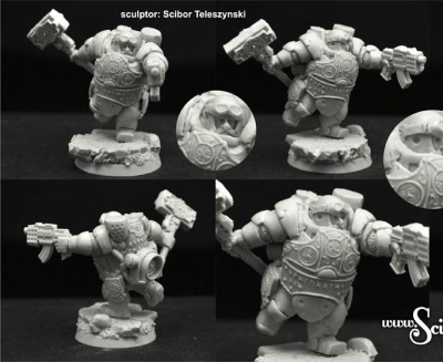 28mm/30mm SF Dwarf Veteran #3 (10)