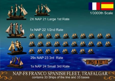 Franco Spanish Fleet (1/3000 Schiffe)