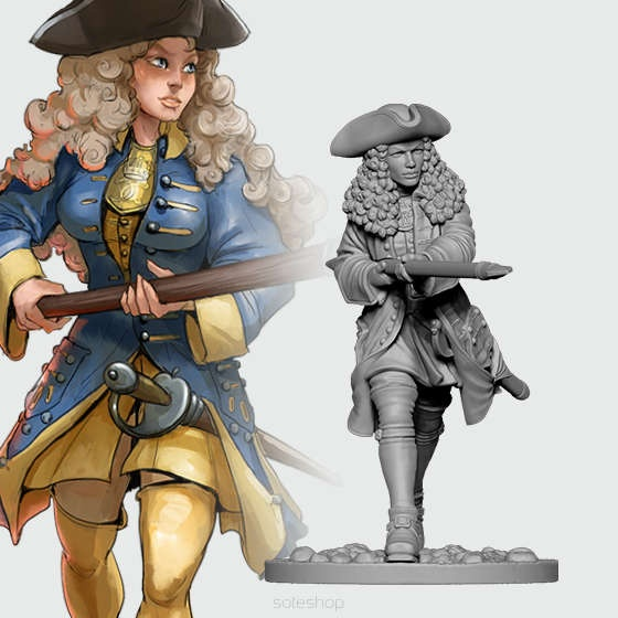 Astrid from Swedish Infantry (54mm)