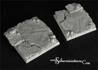 Egyptian Ruins 50mm square base (1)