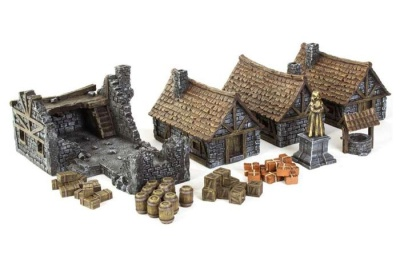Medieval Houses Set - painted