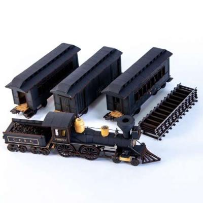 19th C. American Passenger Train Set (Black)
