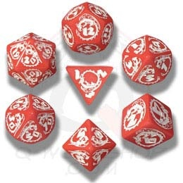 Red & White Dragons Dice (7)