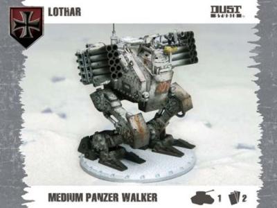 Dust Tactics: Medium Panzer Walker - Lothar (Axis)