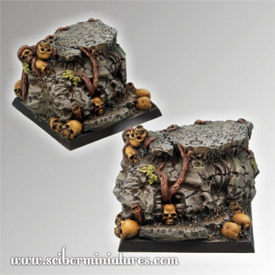 Chaos Ground Square Base 40mm