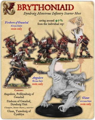 Brythoniaid Dyndraig Monstrous Infantry Starter Host