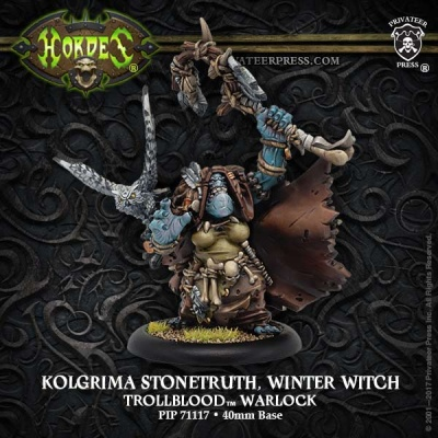 Kolgrima Stonetruth, Winter Witch - Trollblood Warlock