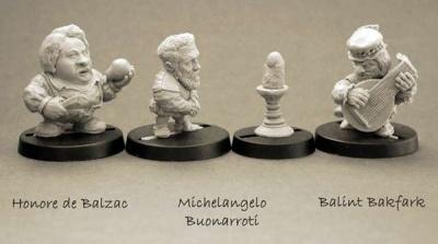Famous People: Honore de Balzac, M. Buonarroti, B. Bakfark
