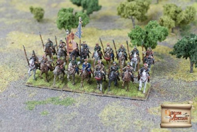 Polish Cossack Cavalry with Spears Banner