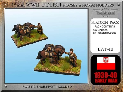 Polish Cavalry Horses and Horse Holders