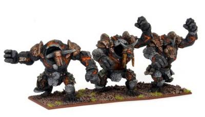 Abyssal Dwarf Lesser Obsidian Golems Troop (3)