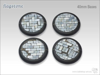 Flagstone Bases 40mm rund (2)