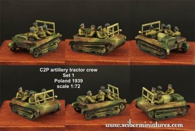 1:72 C2P artillery tractor Crew Set #1 (4)